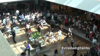 Flash mob Virada Digital Ribeir�o Shopping 2012 #viradadigitalrbs [Espa�o D�nia Amaral]