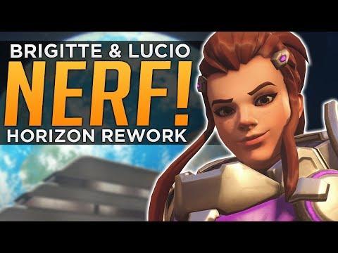 Overwatch: Brigitte & Lucio NERFED! - Horizon REWORK!