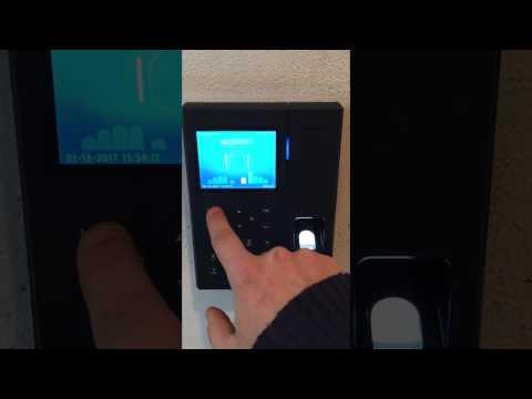 C2Pro rilevazione presenze biometrico registrazione impronta e test di timbratura
