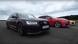 Audi R8 V10 Plus vs Audi RS6 vs Audi S8 - Top Gear: Drag Races. Watch online.