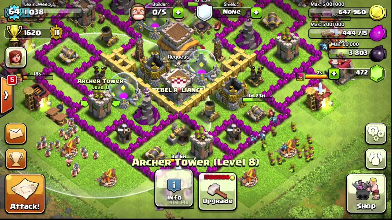 Clash of Clans Town Hall 8 Base