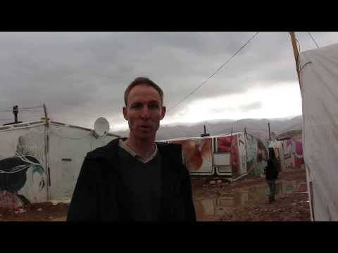 Jim Murphy MP, Shadow International Development Secretary, in the Bekaa Valley in Lebanon
