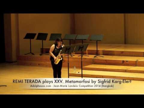 REMI TERADA plays XXV Metamorfosi by Sigfrid Karg Elert