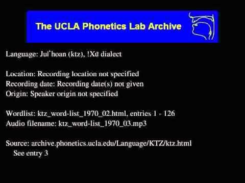 Ju|'hoan audio: ktz_word-list_1970_03