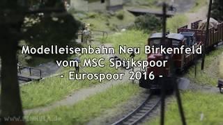 Modelleisenbahn Neu Birkenfeld Epoche III Schmalspurbahn in Segmenten vom MSC Spijkspoor
