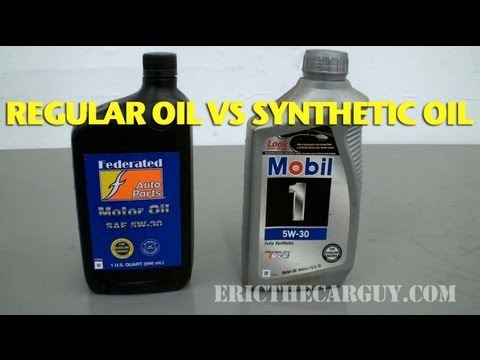 Synthetic Vs Regular Oil >> Regular Oil vs Synthetic Oil -EricTheCarGuy - YouTube