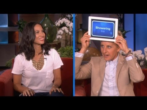 Olivia Munn Plays 'Heads Up!'