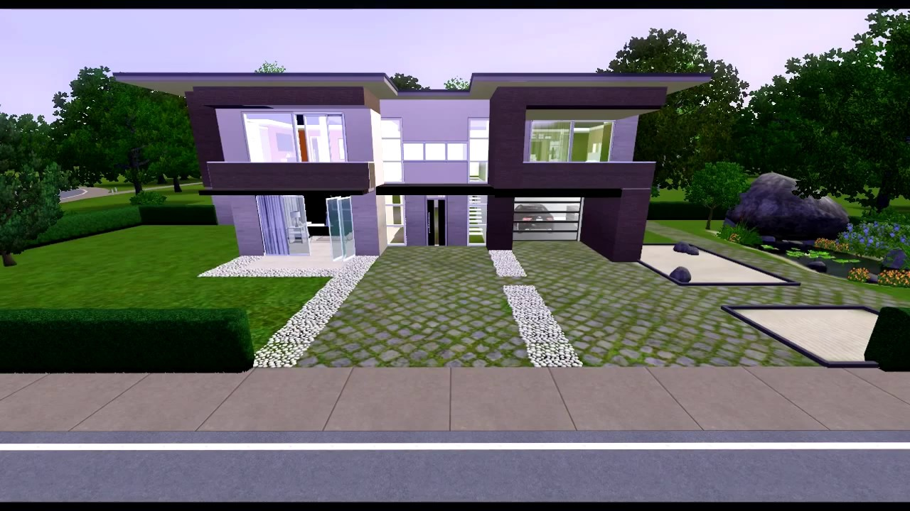 The sims 3 eco modern house youtube - Sims 3 wohnzimmer modern ...