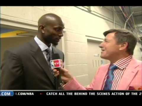 Kevin Garnett tells Craig Sager to Burn his clothes!