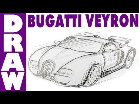How to draw a Bugatti Veyron - spoken tutorial