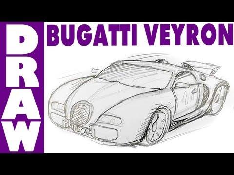 How to draw a Bugatti Veyron - spoken tutorial