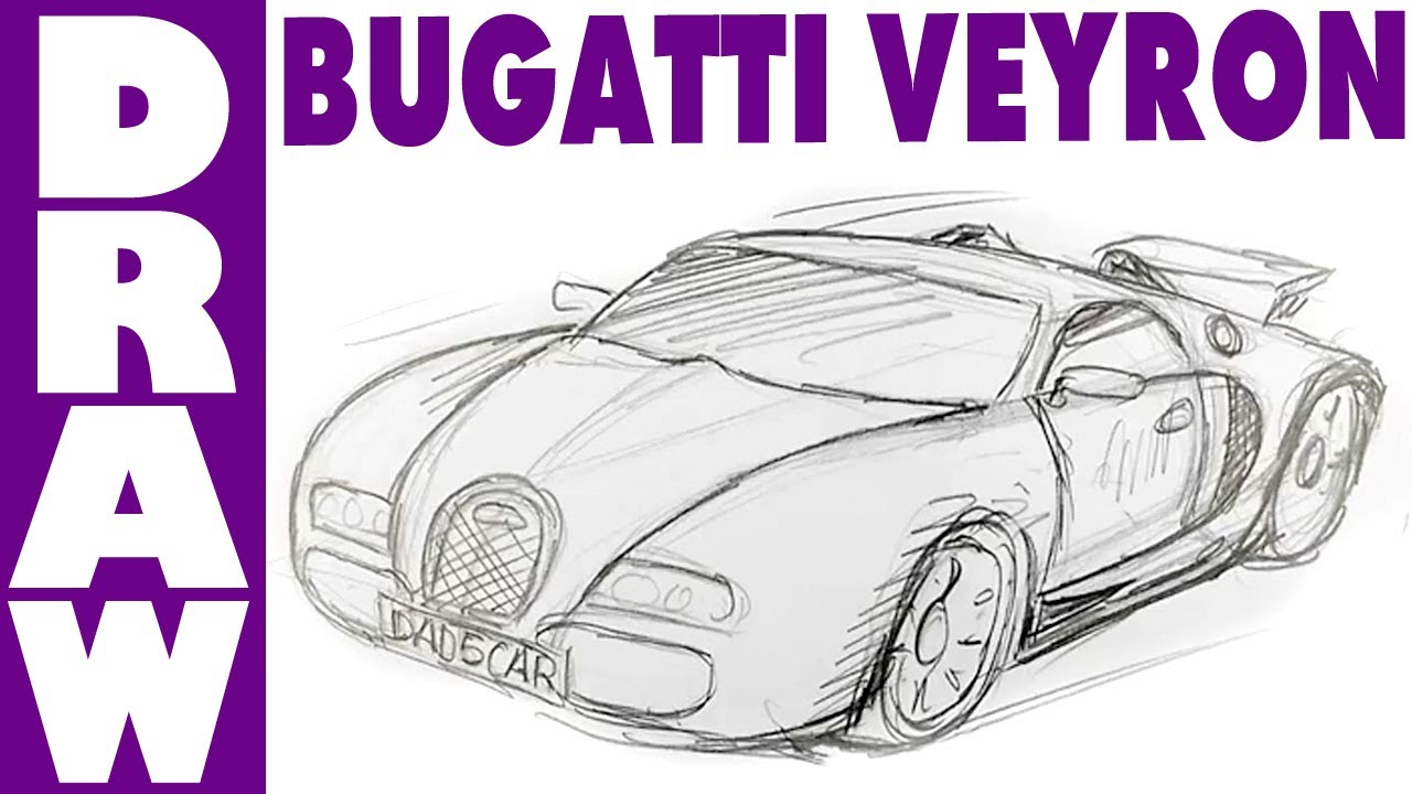how to draw a bugatti veyron spoken tutorial youtube. Cars Review. Best American Auto & Cars Review