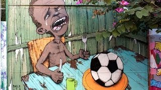 Brazil Street Artist Shines Light On Poverty In Leadup To