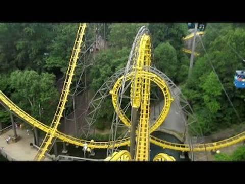Loch Ness Monster Front Seat on-ride widescreen POV Busch Gardens Williamsburg