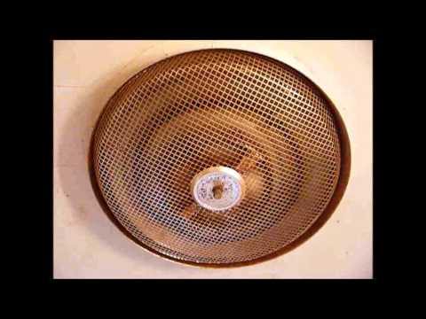 Nutone bathroom electric ceiling heater from 1963 youtube - Ceiling mounted bathroom heaters ...