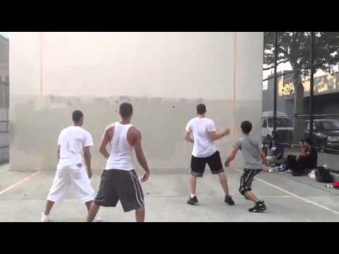 geo & will v.s mike & nick  131 Bronx NYC handball