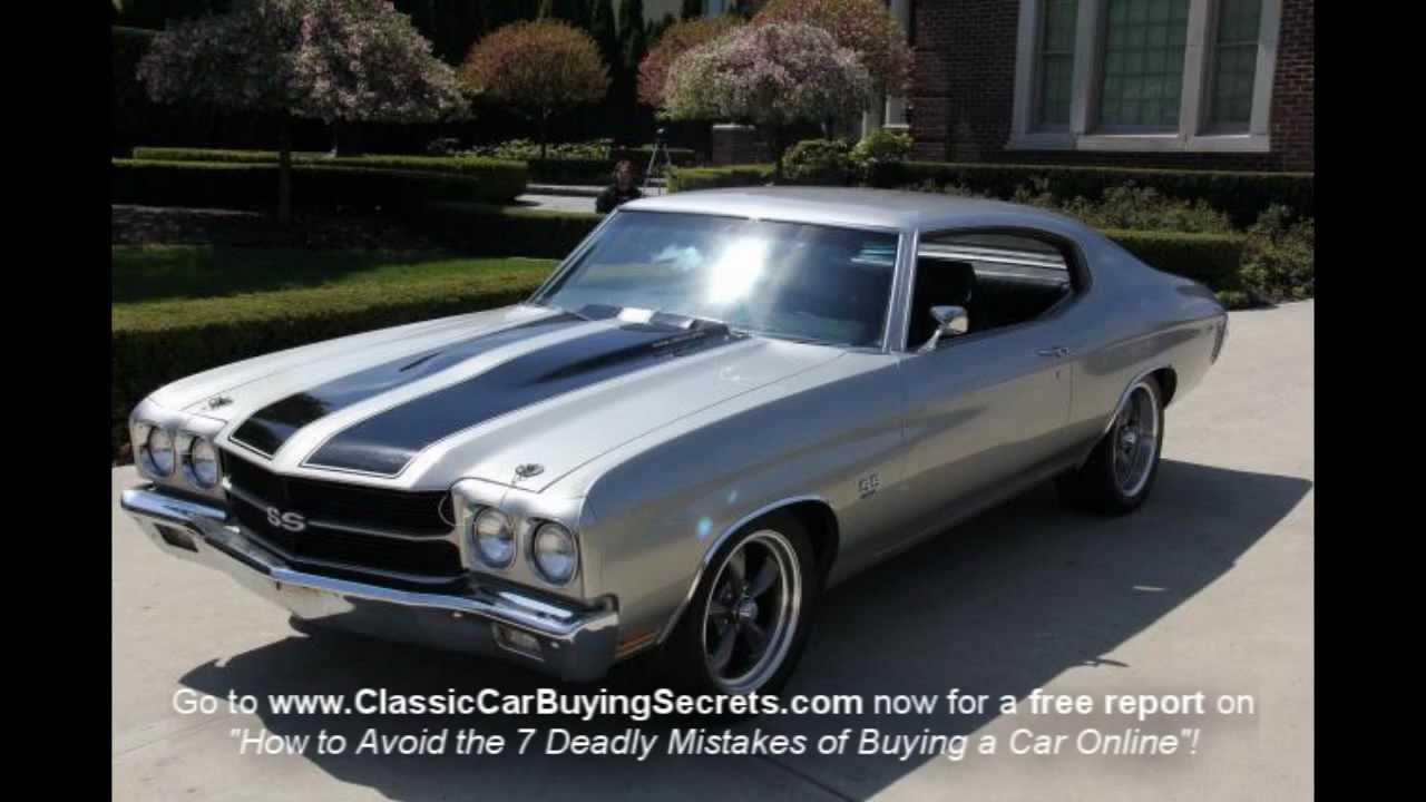 1970 chevy chevelle ss clone classic muscle car for sale in mi vanguard motor sales youtube. Black Bedroom Furniture Sets. Home Design Ideas
