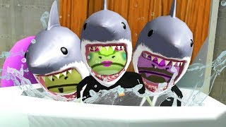 SHARK FROGS FLUSHED DOWN THE MAGIC TOILET! - Amazing Frog - Part 131   Pungence