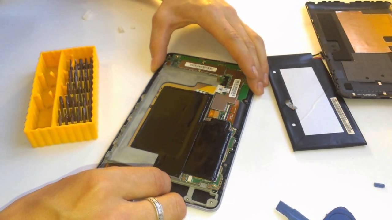 Снятие тачскрина с планшета Asus google nexus7.