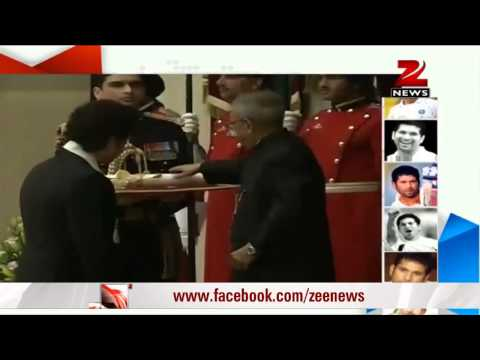 Sachin Tendulkar, Prof CNR Rao receive Bharat Ratna