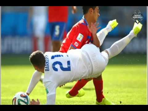 ENGLAND VS COSTA RICA(Bryan Ruiz tricks) 0-0 full match fifa worldcup 2014 24/06/2014