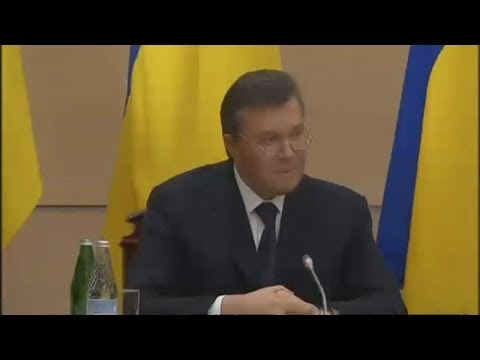 Viktor Yanukovich: press conference
