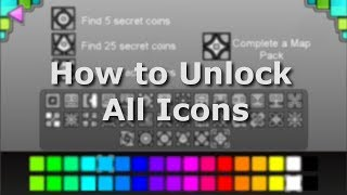 Geometry Dash ALL ICONS How To Unlock!