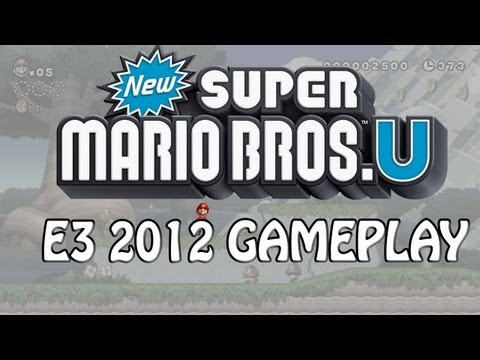 New Super Mario U Gameplay Wii U E3 2012