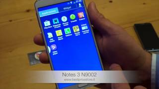 Recensione ITA Smartphone NOTES 3 N9002 Android 4.3