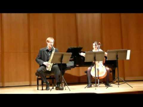 Carl-Emmanuel Fisbach — Sonata for Alto Saxophone and Cello, II, Edison Denisov