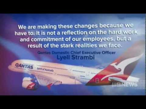 CH9: Unions Fighting for Qantas Cuts