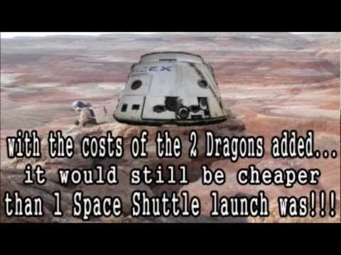 Mars - One Man One Way Trip 2020 - SpaceX Dragon - Falcon Heavy Rockets