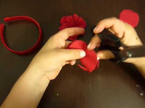 tutorial Diademas decoradas y forradas facilmente paso a paso  No.034  Manualidades la Hormiga