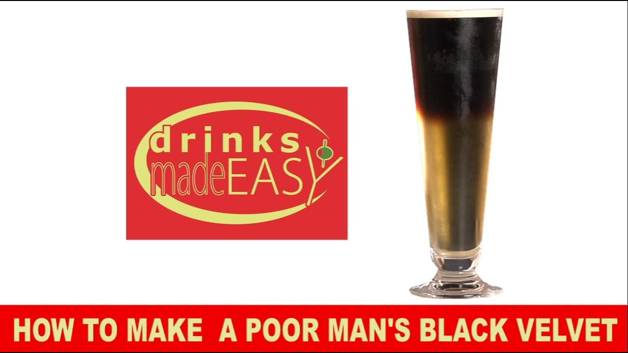 How To Make A Guiness Black Velvet Beer Cocktail -Drinks Made Easy ...