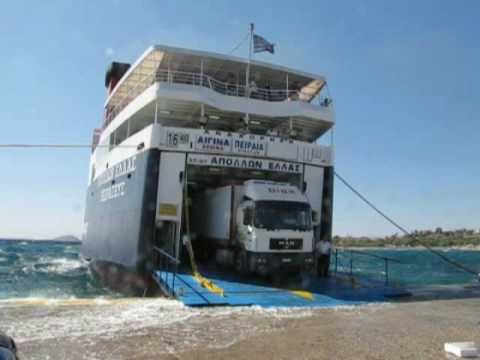 Apollon Hellas at Aegina ; Water over the Ramp