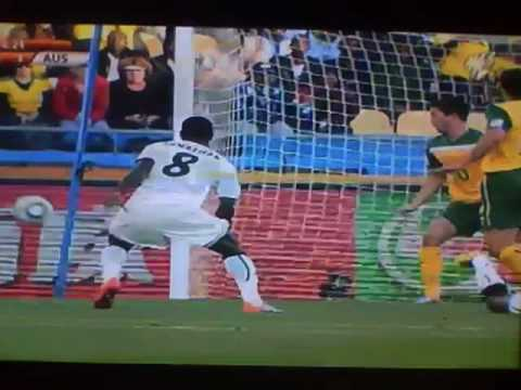 Harry Kewell Red Card for Hand Ball vs Ghana 2010 FIFA World Cup