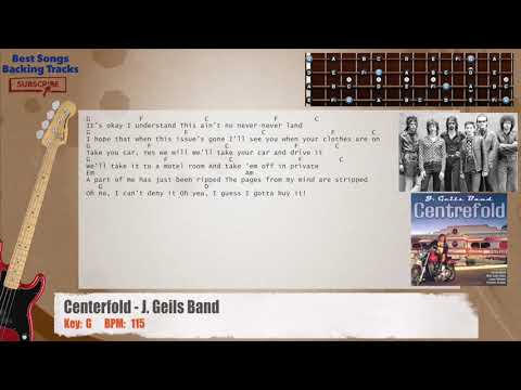 Centerfold - J. Geils Band Bass Backing Track with chords and lyrics
