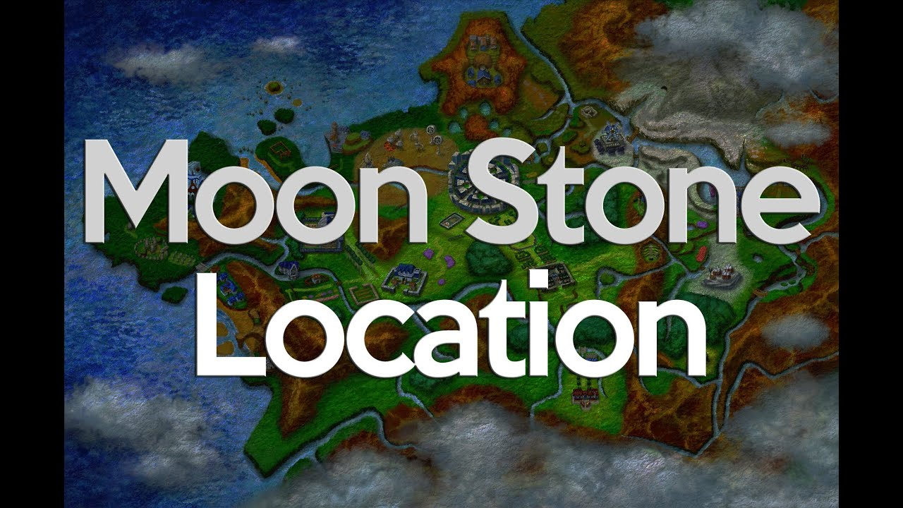 Pokemon X and Y Moon Stone Location (two stones) - YouTube