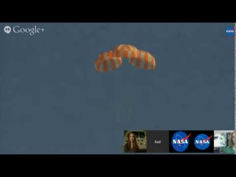 Orion Capsule Drop Test Captured In NASA Google Hangout | Video