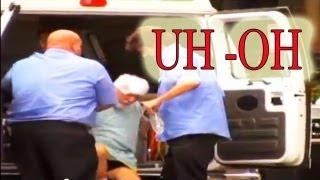 救急車が患者をバス停に置いて去っていくといういたずら