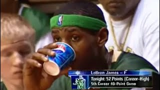 The Game LeBron James Outscored An Entire Team! HIGHSCHOOL LEBRON WAS SCARY!