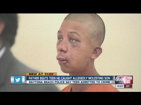 Father beats teen he caught allegedly molesting son