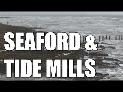 Seaford & Tide Mills in East Sussex - English sea fishing locations, South Coast, England, Britain,