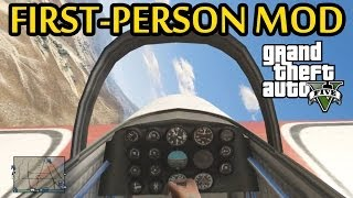 GTA 5 NEW First-Person Mod Gameplay! Driving, Flying A