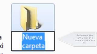 [Tutorial] Cómo Poner Una Carpeta O Archivo Sin Nombre En