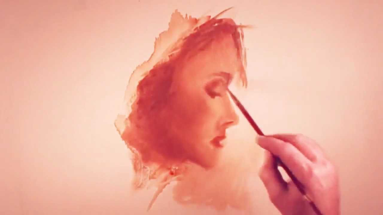 How to paint a woman's face in profile - YouTube