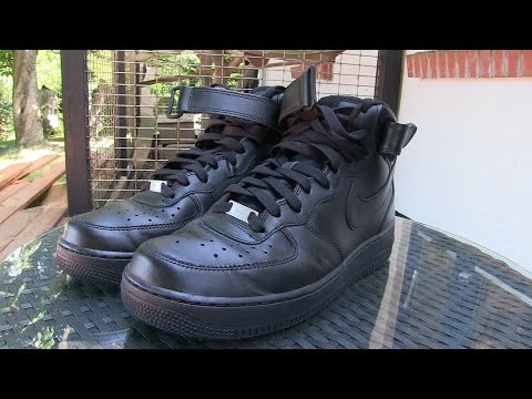 Nike - Air Force 1 MID '07 (Black) - Quick Review + On Feet