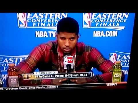 Paul George post game interview- 5/26/14