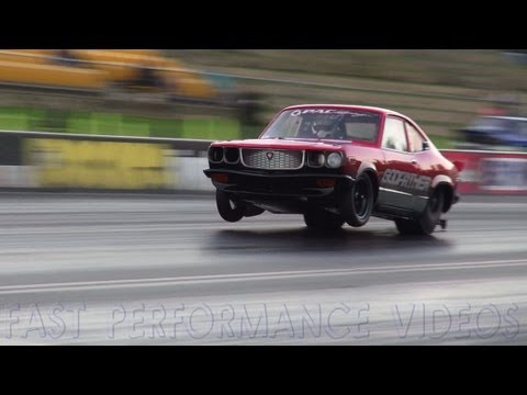 SADEK GODFATHER RX3 CRASH SYDNEY DRAGWAY APSA SHOOTOUT 2013