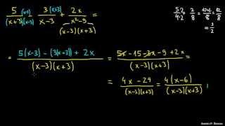 Seštevanje in odštevanje racionalnih izrazov 1